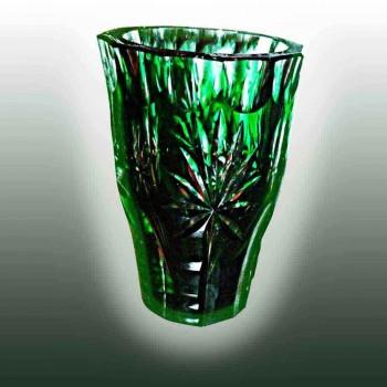 Crystal-Val Saint Lambert, die Vase Einheit unterzeichnet im Besitz Vaas Val Saint Lambert