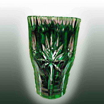 cristal val saint Lambert vase p.u. signe-antieke vaas val saint La...