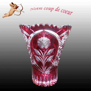 Val Saint Lambert cristal-arandano-Val Saint Lambert Vaas Cramberry florero
