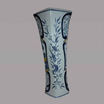 Delft Vase Baluster Steingut weiß blau des 19. Jahrhunderts China
