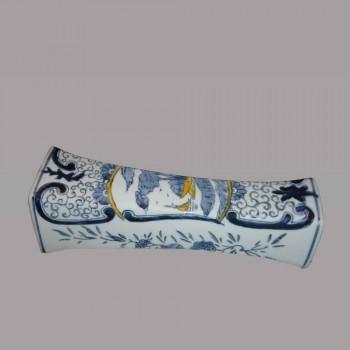Delft-Vase Balustre      en faience blanc bleu de Chine XIXe siecle
