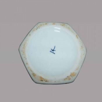 Vaso Delft balaustra blu ceramica a pasta bianca della Cina del 19  secolo