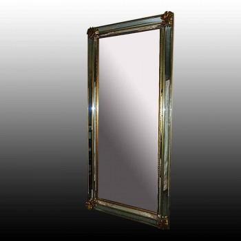 Spiegel in brons verguld begin 20e eeuw