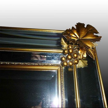 Mirror in bronze gilded beginning 20th century