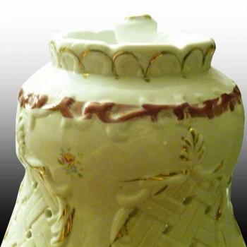 Romantische Franse-lantaarnpaal porselein Bisque porselein, begin 20e eeuw