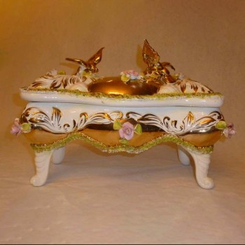 The sesto-China Cabinet Italian earthenware Palm handmade Golden late - 18th century-room single