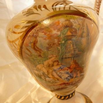 Spoiler quaregnon floreros jarra de ceramicos que representan una escena de amor