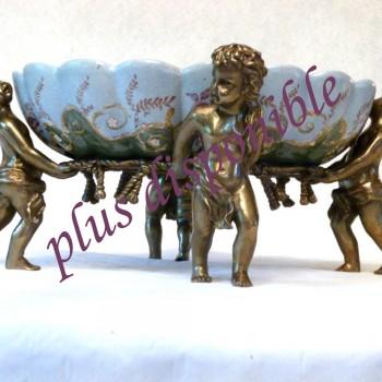 Bronze und alte Porzellan Center Tabelle 18. Jahrhundert - Basic-seltenes Stuck Steingut