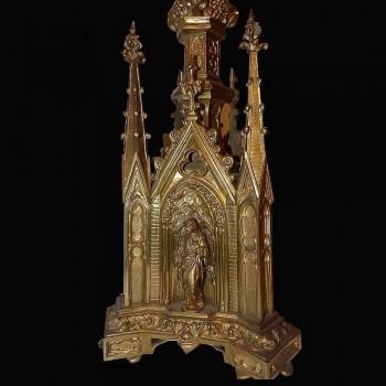 Spades candles in bronze dore Gothic era XIX century