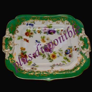 Piatto di porcellana di Parigi firmato