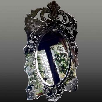 Espejo de Venecia Murano Hielo Mercurio
