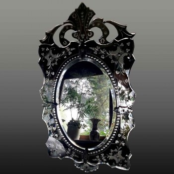 Mirror of Venice Murano Ice Mercury