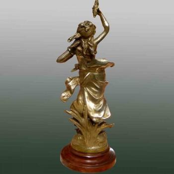 Bronze par Auguste Moreau intitulé Margueritte France 1880