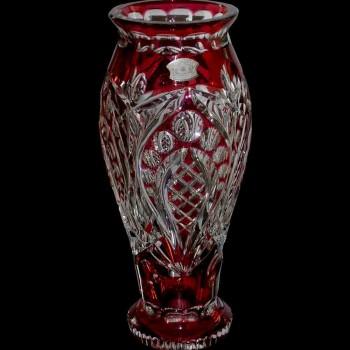Vaso in cristallo rosso Art Déco Val Saint Lambert