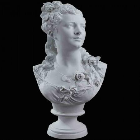 Busto biscotto Flore Carrier Belleuse XIX secolo