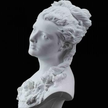 Buste en biscuit Flore Carrier Belleuse XIX siècle