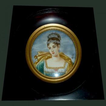 Miniature de Pauline Bonaparte Signée
