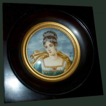 Miniatur von Pauline Bonaparte Signiert