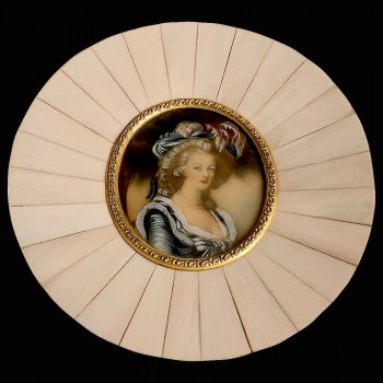 Miniatur auf Elfenbein XIX. Jahrhundert