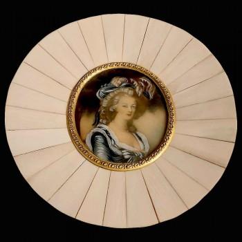 Miniatura sobre marfil del siglo XIX.