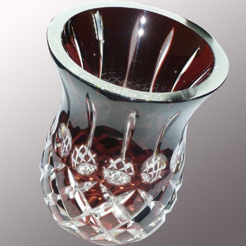 Val Saint Lambert pineapple Art deco vase