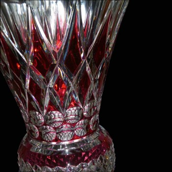Pair of Val Saint Lambert crystal vase (Charles Graffart)