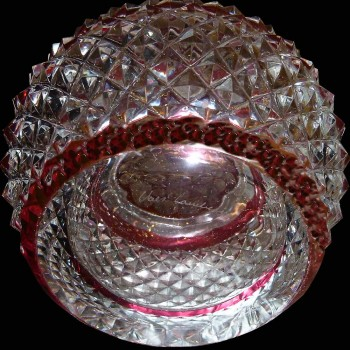 Paire de vase en cristal Val Saint Lambert (Charles Graffart)