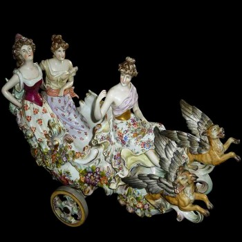 German porcelain group XIX century