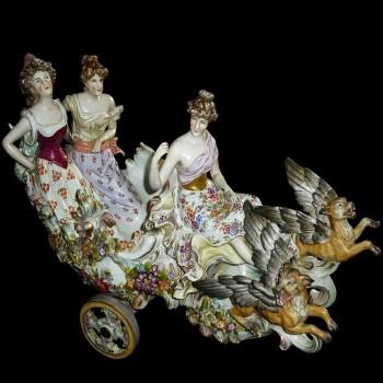 Grupo de porcelana alemana del siglo XIX