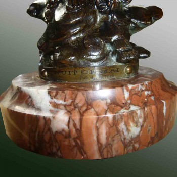 "Sculpture "" nuit de mai "" Louis Moreau 1900-1920"