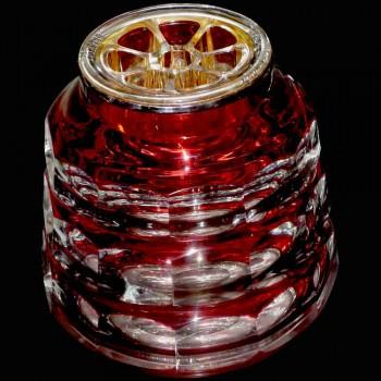 "Vaso a punta di fiori in cristallo Val Saint Lambert ""Charles Graffart"""