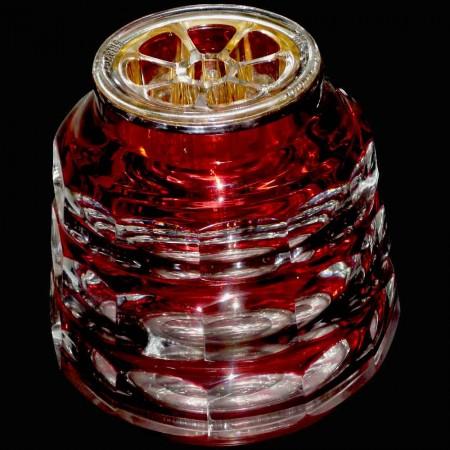 Val Saint Lambert Kristallblumen-Spike-Vase