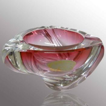 Cenicero vintage de cristal Val Saint Lambert R. Delvenne