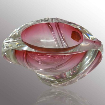 cendrier en cristal Val Saint Lambert vintage R. Delvenne