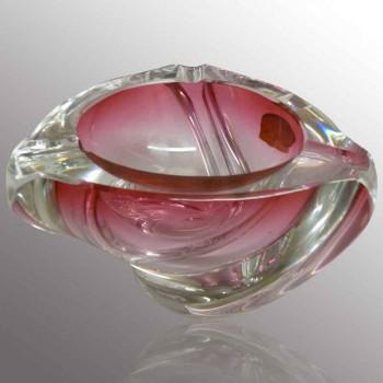 R. Delvenne vintage Val Saint Lambert crystal ashtray