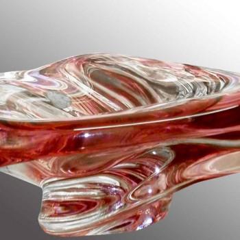 coupe en cristal Val Saint Lambert vintage R. Delvenne