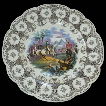 Piatto parlante Napoleon Wedgwood XIX secolo