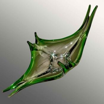 Val Saint Lambert crystal centerpiece René Delvenne