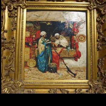 Roberts - pittura orientalista - olio su tavola