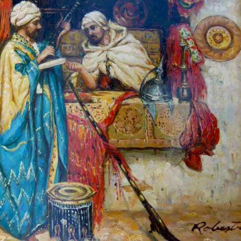 Roberts - orientalist painting - oil on panel