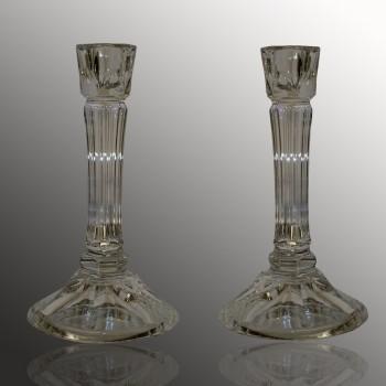 Paire de bougeoirs chandeliers Baccarat XIV eme siècle