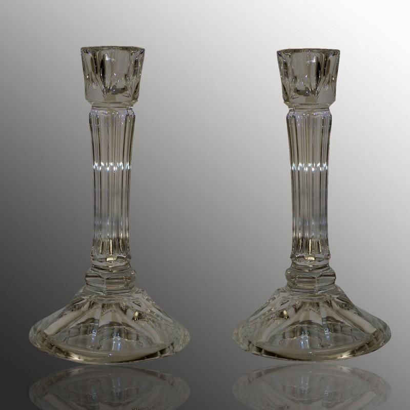Paar Baccarat-kandelaars uit de 14e eeuw