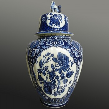 Royal Sphinx Delft Boch earthenware vase