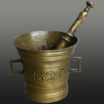 19th century bronze apothecary mortar and pestle
