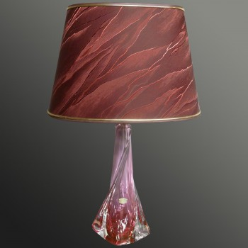 Vintage table lamp in crystal Val Saint Lambert 1950-1974