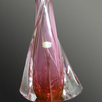 Vintage table lamp in crystal Val Saint Lambert