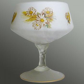 Fruit bowl in crystal opaline 1900-1920