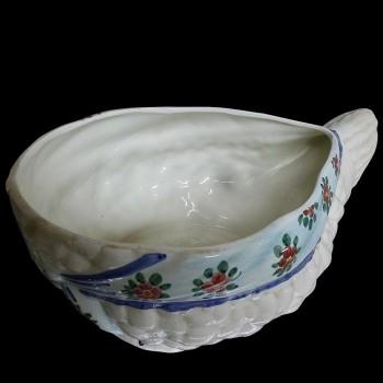Terrine trompe l'oeil covered in 19th century porcelain