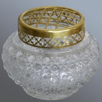 Vase pique fleurs en cristal Baccarat Art nouveau