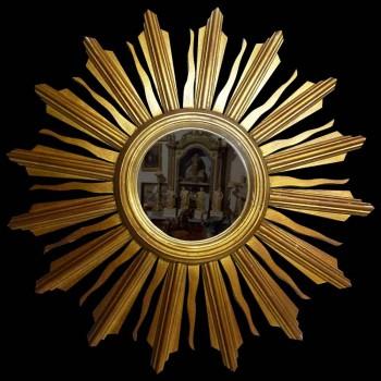 Sun mirror, Art Deco witch's eye